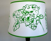 Hand painted Lamp Shade Hydrangea Medium Drum Shade by Mary Gaspar