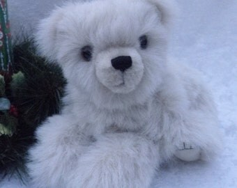 Nome - cream polar bear, jointed artist bear, handmade teddy