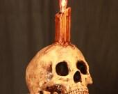 Lamp Macabre Skull Art