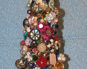 Vintage Christmas Jewelry Tree 9 In.