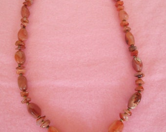 Natural Carnelian Nugget Necklace