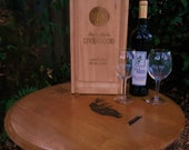 Dual Locking, Personalized Laser Carved,  Wedding/ Anniversary Wine Gift Box