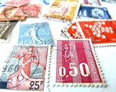 Vintage French postage stamps.60 pcs. .