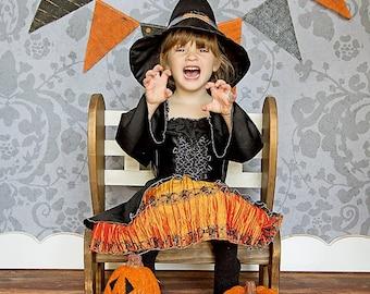 Halloween Garland Burlap Banner Photography Prop