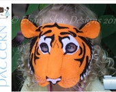 Child's Tiger Mask PATTERN. Digital Sewing Pattern for Tiger Costume