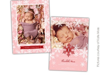 PSD Christmas Card Photoshop template - Snow dreams - E610