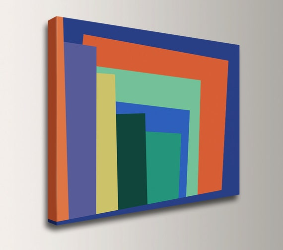 Modern Art Line Painting : Modern art colorful wall geometric abstract painting