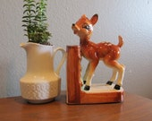 Vintage Deer Fawn Bookend