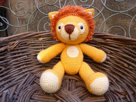Lion Crochet Pattern Amigurumi : Lenny lion amigurumi crochet pattern