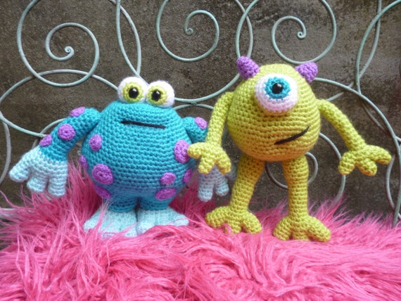 Horrid Horace & Scary Gary, Amigurumi Monsters Pattern.