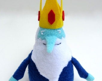 Adventure Time Ice King Plush -- Cute Miniature Stuffed Ice King