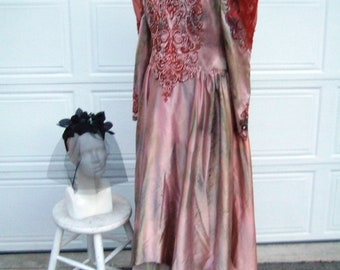 Upcycled Steampunk Clothing, Autumn Zombie Bride Costume, Victorian Dead Bride, Spider Bridal Veil