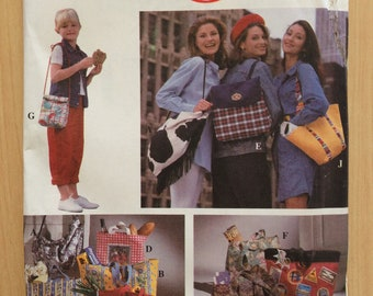 Simplicity 90s Crafts Sewing Pattern 8852 Hand Bags in Seven Styles UNCUT Sale