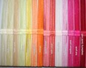 You Choose Set of 10 - Fold Over Elastic Headbands - (FOE) 5/8 Inch Set Of Elastic Headbands - 50+ Colors - Super SPEEDY Shipping
