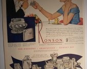 RONSON LIGHTER & Hamilton Watch Original 1940s Vintage Magazine Ad Graduation Gift Present Additional Ads Ship Free Ready To Frame