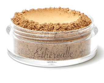 CLEARANCE - Mineral Foundation Powder with Pearl Powder - Walnut - medium shade with a pink undertone