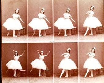 BALLERINA DANCER Vintage 8 Frame Custom SHIRT Stop Motion Photo Sequence