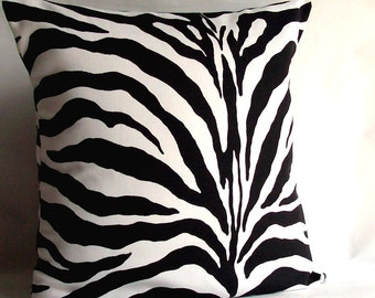 Popular items for zebra throw pillow on Etsy