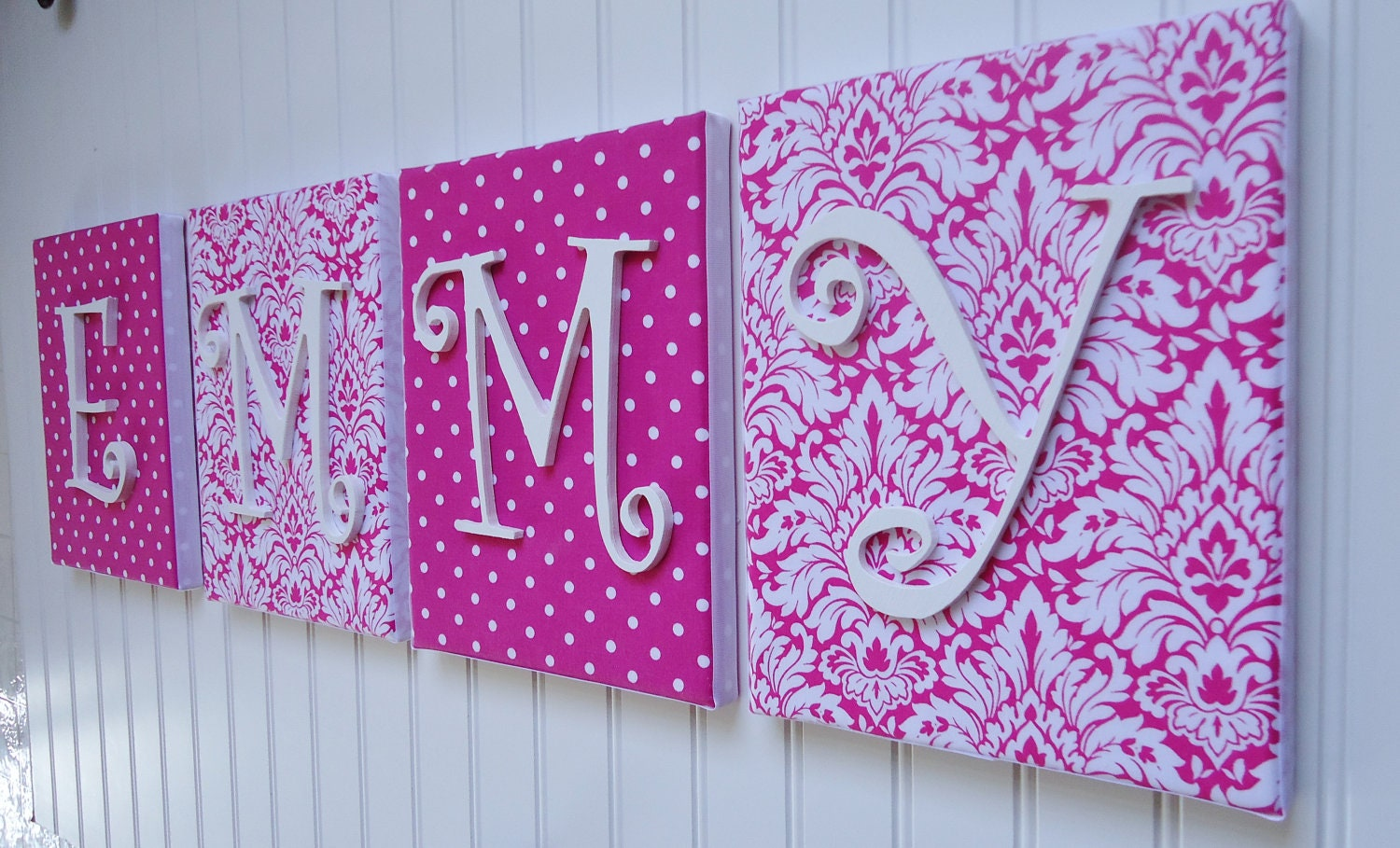 Wall Letters Nursery Decor Upholstered Letters Wooden