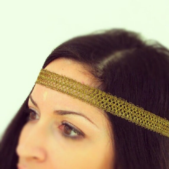 Bronze Bohemian Gold Head band-Hippie Headbands