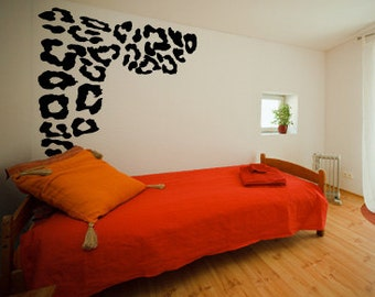 Leopard Print Spots Wall Vinyl Decal Home Decor