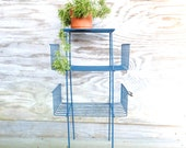 RESERVED FOR JOE wire stand / mid century / metal plant stand / book shelves