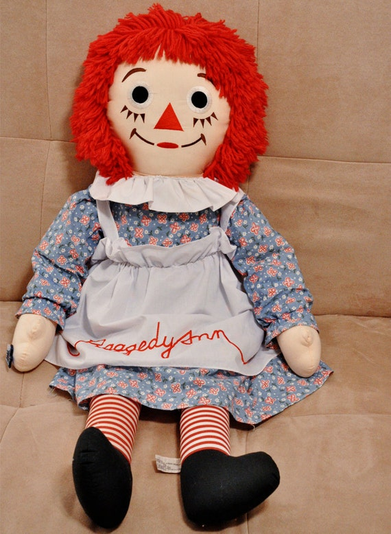 Vintage 36 inch Raggedy Ann Doll by Applause