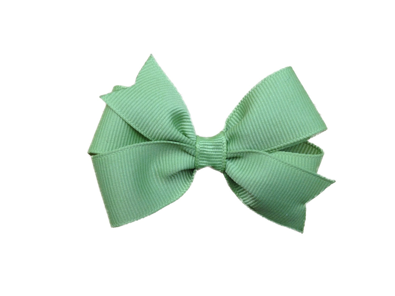 Light Blue Hair Bow 3 inch light green hair bow