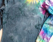 OOAK Tie Dye Womens Shirt with Multi-color Spiral on the arm--Size Small - 2X