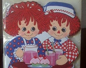 Vintage Unopened 1974 Raggedy Andy Ann Birthday Party Invitations
