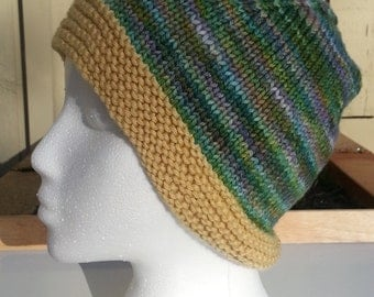 Green Multi-Color Hat with Yellow Brim