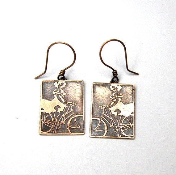 Cycling Chick Earrings