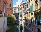 Venice photography, Gondola, Italy, Canals, Europe