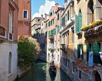 Venice photography, Gondola, Italy, Canals, Europe