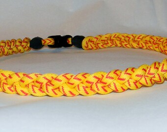 "Titanium Tornado 3 Braid  Rope Sports Necklace -Softball Stitch  20"" inches"