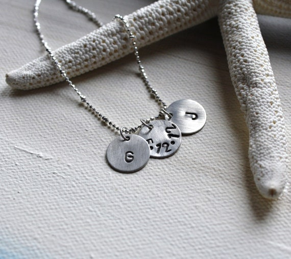 Sterling Silver Engagement or Newlywed Necklace - Anniversary - Special Date