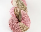 Hand dyed SW Merino and bamboo- Prairie Rose