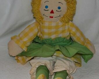 Vintage Handmade Raggedy Ann Blonde