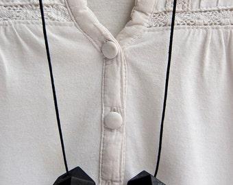 Black, Yellow/Cream Geometric Necklace
