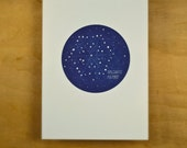 Letterpress Holiday Cards: Set of 10 Constellation cards