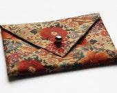 Select Floral Leather Envelope Card Holder