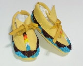 Customized Beaded Baby Moccasins