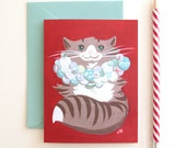 Kitten Wreath Holiday Cards - Set of 8