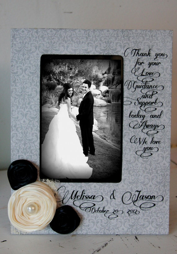 Personalized Wedding Picture Frames Parents : Wedding Picture Frame Thank You Wedding Personalized Frame Parents of ...