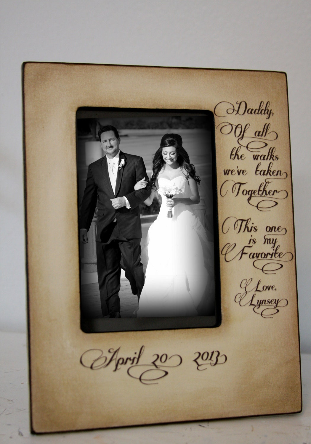 FAV/DAD: 8x10 Holds 4x6 Photo Father of the Bride Gift Bridal