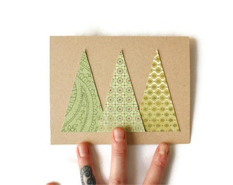 Christmas Card: Modern Pines - Customizable Color Schemes