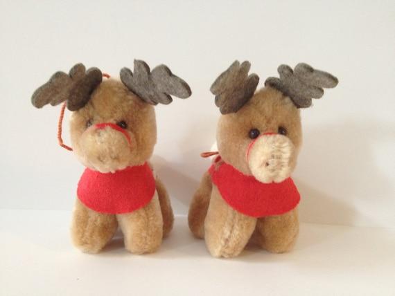 Vintage McDonalds 1985 Plush Reindeer Chrismas Tree Ornaments From Santa Claus The Movie