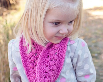 Instant Download PDF CUTE Crochet Infinity Scarf Pattern for Girls and Adults