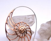 Nautilus Copper Earrings - Copper with Sterling Silver
