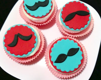 Mustache Cupcake Toppers